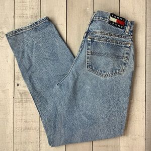 Tommy Hilfiger vintage high rise tapered mom jeans